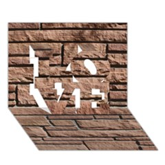 SANDSTONE BRICK LOVE 3D Greeting Card (7x5)