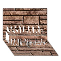 SANDSTONE BRICK YOU ARE INVITED 3D Greeting Card (7x5)