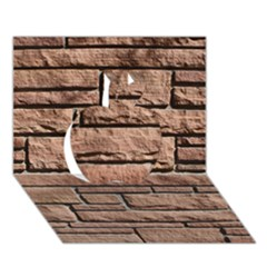 Sandstone Brick Apple 3d Greeting Card (7x5)