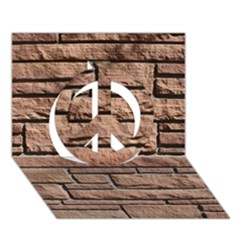 Sandstone Brick Peace Sign 3d Greeting Card (7x5)