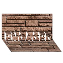 SANDSTONE BRICK ENGAGED 3D Greeting Card (8x4)
