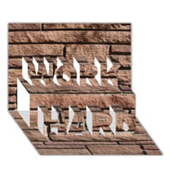 SANDSTONE BRICK WORK HARD 3D Greeting Card (7x5)
