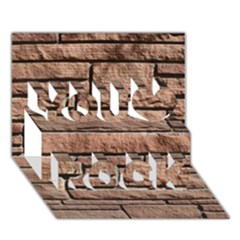 Sandstone Brick You Rock 3d Greeting Card (7x5)