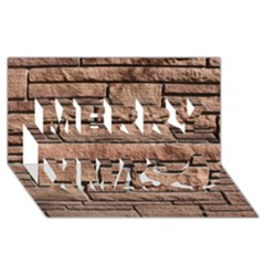 SANDSTONE BRICK Merry Xmas 3D Greeting Card (8x4)