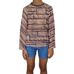 SANDSTONE BRICK Kid s Long Sleeve Swimwear