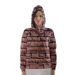 SANDSTONE BRICK Hooded Wind Breaker (Women)