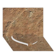 Sandstone Heart Bottom 3d Greeting Card (7x5)