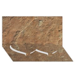 SANDSTONE Twin Heart Bottom 3D Greeting Card (8x4)
