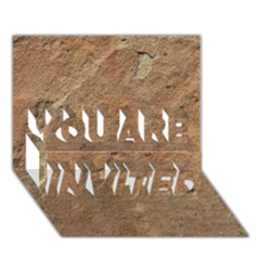 SANDSTONE YOU ARE INVITED 3D Greeting Card (7x5)