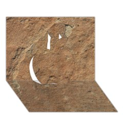 SANDSTONE Apple 3D Greeting Card (7x5)