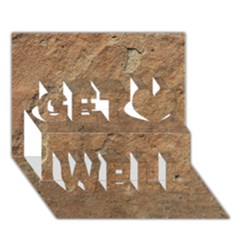 SANDSTONE Get Well 3D Greeting Card (7x5)