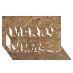 SANDSTONE Merry Xmas 3D Greeting Card (8x4)