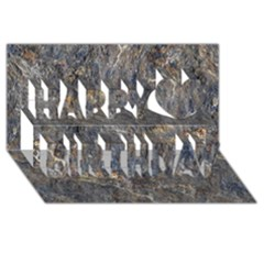 Rusty Stone Happy Birthday 3d Greeting Card (8x4)