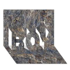 Rusty Stone Boy 3d Greeting Card (7x5)