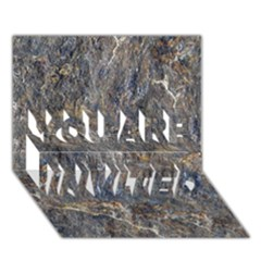 RUSTY STONE YOU ARE INVITED 3D Greeting Card (7x5)