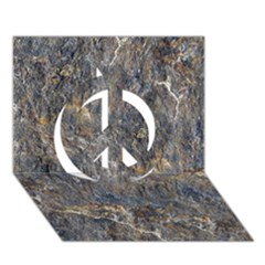 RUSTY STONE Peace Sign 3D Greeting Card (7x5)