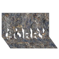 RUSTY STONE SORRY 3D Greeting Card (8x4)