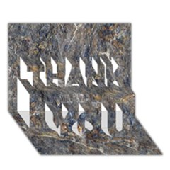 RUSTY STONE THANK YOU 3D Greeting Card (7x5)