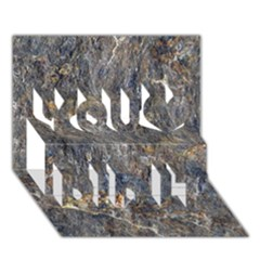 RUSTY STONE You Did It 3D Greeting Card (7x5)