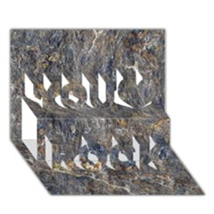 Rusty Stone You Rock 3d Greeting Card (7x5)