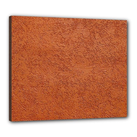 RUST COLORED STUCCO Canvas 24  x 20