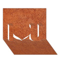 RUST COLORED STUCCO I Love You 3D Greeting Card (7x5)