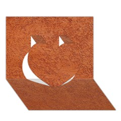 Rust Colored Stucco Heart 3d Greeting Card (7x5)