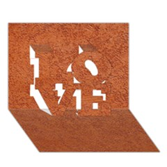RUST COLORED STUCCO LOVE 3D Greeting Card (7x5)