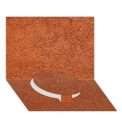 RUST COLORED STUCCO Circle Bottom 3D Greeting Card (7x5)