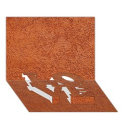 Rust Colored Stucco Love Bottom 3d Greeting Card (7x5)