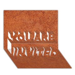 RUST COLORED STUCCO YOU ARE INVITED 3D Greeting Card (7x5)