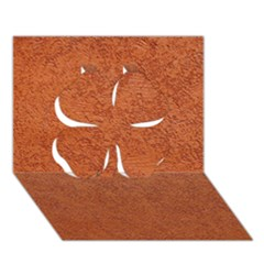 Rust Colored Stucco Clover 3d Greeting Card (7x5)