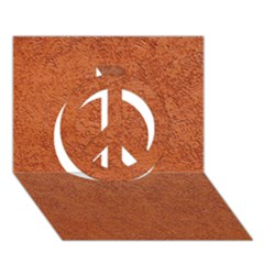 Rust Colored Stucco Peace Sign 3d Greeting Card (7x5)