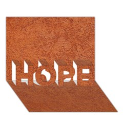 RUST COLORED STUCCO HOPE 3D Greeting Card (7x5)