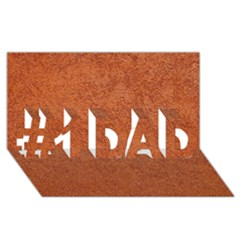 RUST COLORED STUCCO #1 DAD 3D Greeting Card (8x4)
