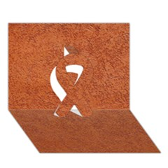 RUST COLORED STUCCO Ribbon 3D Greeting Card (7x5)