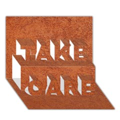 RUST COLORED STUCCO TAKE CARE 3D Greeting Card (7x5)