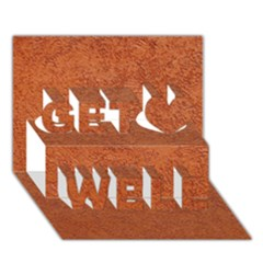 RUST COLORED STUCCO Get Well 3D Greeting Card (7x5)
