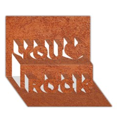 Rust Colored Stucco You Rock 3d Greeting Card (7x5)