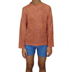 RUST COLORED STUCCO Kid s Long Sleeve Swimwear