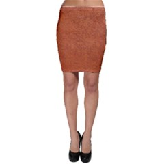 RUST COLORED STUCCO Bodycon Skirts