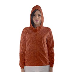RUST COLORED STUCCO Hooded Wind Breaker (Women)