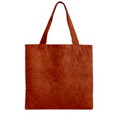 RUST COLORED STUCCO Zipper Grocery Tote Bags
