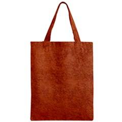 RUST COLORED STUCCO Zipper Classic Tote Bags