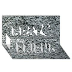 ROUGH GREY STONE Best Friends 3D Greeting Card (8x4)