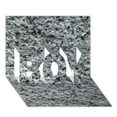 Rough Grey Stone Boy 3d Greeting Card (7x5)