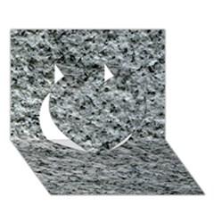 Rough Grey Stone Heart 3d Greeting Card (7x5)