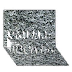 ROUGH GREY STONE YOU ARE INVITED 3D Greeting Card (7x5)