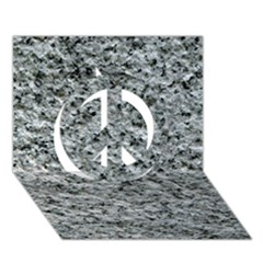 Rough Grey Stone Peace Sign 3d Greeting Card (7x5)