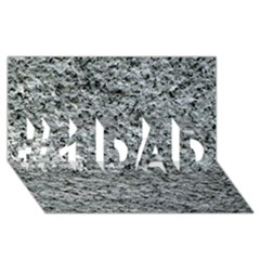 Rough Grey Stone #1 Dad 3d Greeting Card (8x4)